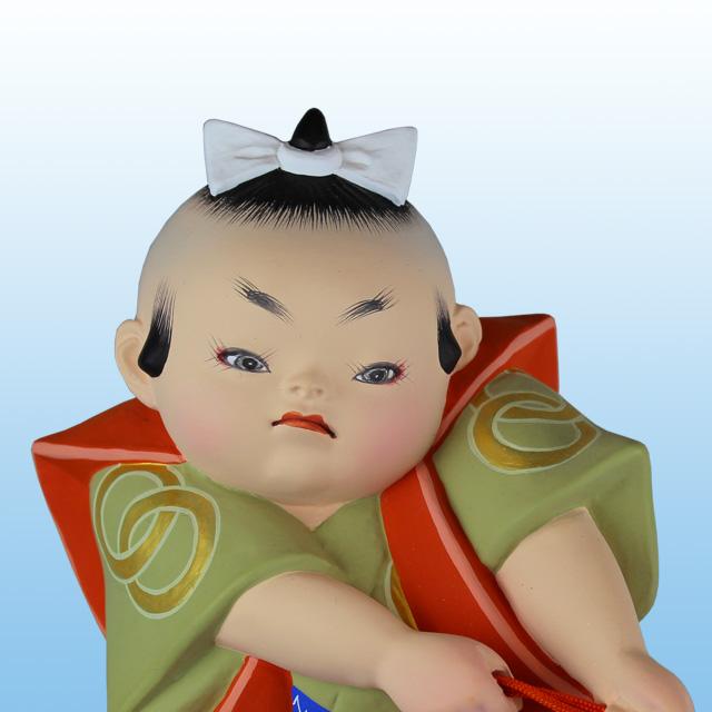 國明作 勝引き 後藤博多人形株式会社